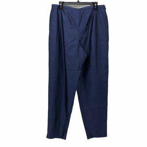 Dana Buchman Womens Pants Blue High Waist Silk 16